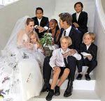 Brad Pitt and Angelina Jolie Family Wedding Photo
